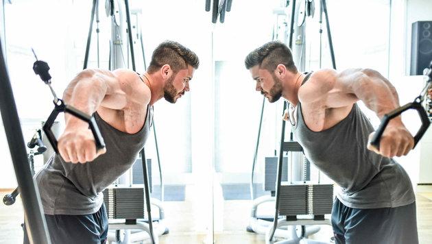 Fabian Mayr trainiert seit 12 Jahren und ist jetzt am Bodybuilding-Olymp angekommen. (Bild: Markus Wenzel)
