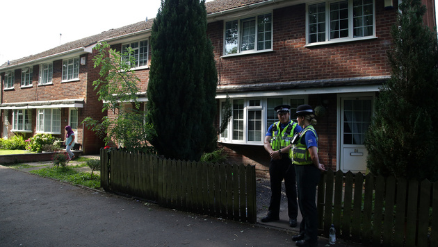 Das Haus von Darren Osborne in Cardiff, Wales (Bild: AFP)