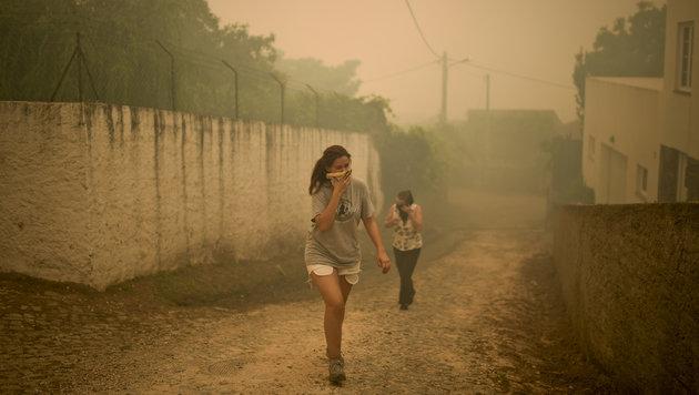 Feuerhölle in Portugal: Kritik an Feuerwehr (Bild: AFP)
