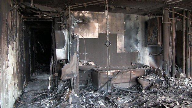 So sieht es nach Inferno im Londoner Hochhaus aus (Bild: EPA)