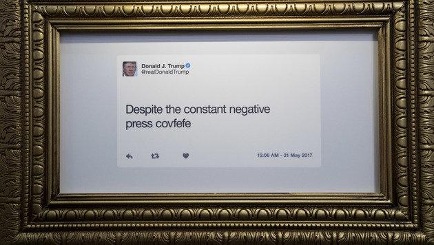 Trumps Tweets wird museales Denkmal gesetzt (Bild: AP)