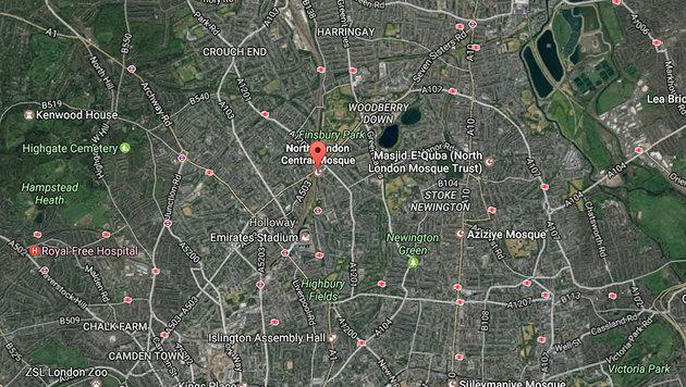 """London-Terror: """"Es fühlt sich an wie im Krieg!"""" (Bild: GoogleMaps)"""