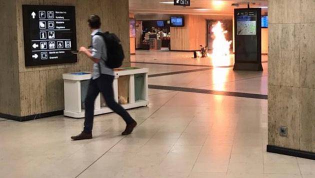 """Täter hatte Bombenkoffer und rief """"Allahu Akbar"""" (Bild: Twitter.com)"""