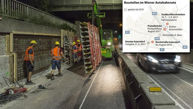 Baustellen auf A23 als Nervenprobe für Wiener (Bild: APA, APA/ASFINAG)