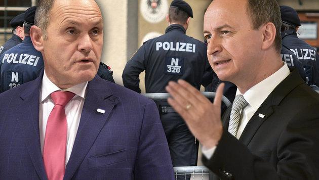 Innenminister tauscht obersten Polizeichef aus (Bild: APA, krone.at-Grafik)