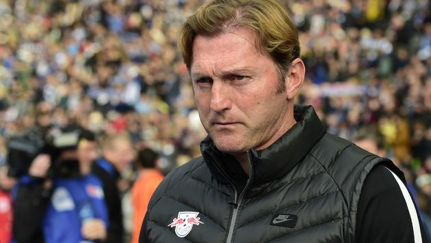 Leipzig-Trainer Ralph Hasenhüttl (Bild: AFP)