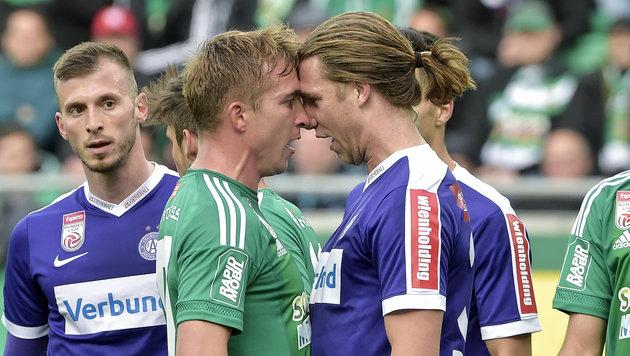 Rapid vs. Austria! Das Wiener Derby in Runde drei! (Bild: APA/HANS PUNZ)
