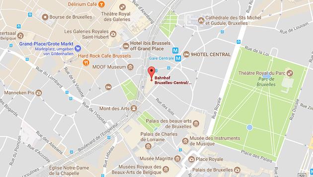"""Täter hatte Bombenkoffer und rief """"Allahu Akbar"""" (Bild: Google Maps)"""