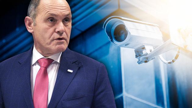 Ex-NSA-Mann kritisiert geplantes Sicherheitspaket (Bild: APA/Hans Punz, thinkstockphotos.de, krone.at-Grafik)