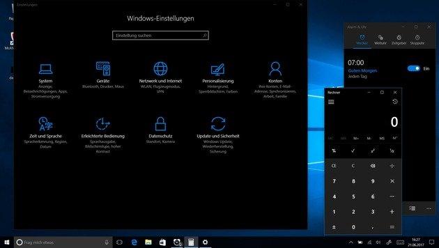 So holen Sie Windows 10 auf die dunkle Seite (Bild: Dominik Erlinger)