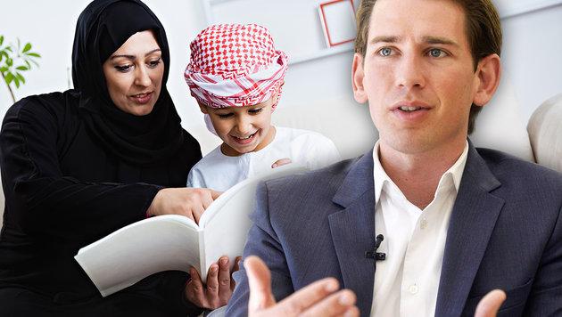 Kontrollversagen in Wiens Islam-Kindergärten? (Bild: APA, thinkstockphotos.de (Symbolbild), krone.at-Grafik)