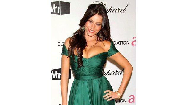 Ob Sofia Vergara in dem Kleid noch richtig atmen konnte? (Bild: Viennareport)