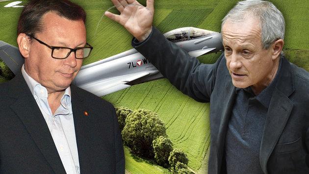 Eurofighter: Strafanzeige gegen Norbert Darabos! (Bild: APA, krone.at-Grafik)