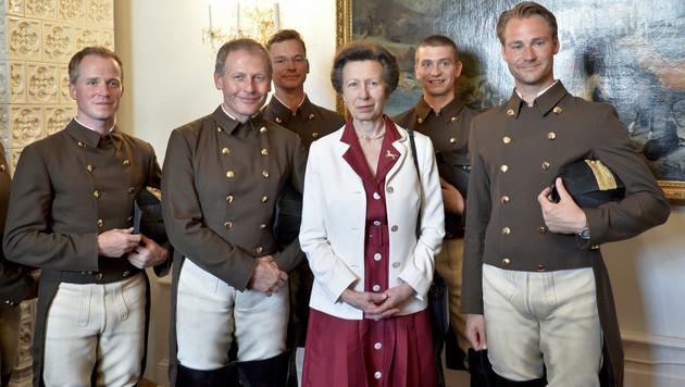 """Prinzessin Anne von Hofreitschule """"geadelt"""" (Bild: APA/HERBERT NEUBAUER)"""
