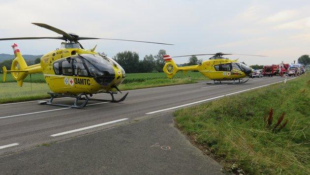 Kleinbus kracht frontal in Auto: Neun Verletzte (Bild: APA/…ÖAMTC)