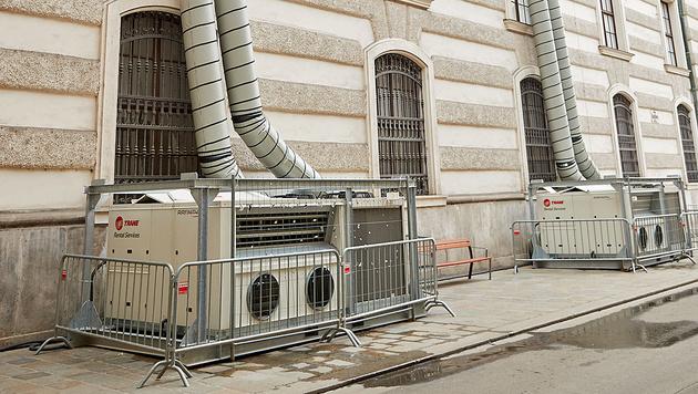 Diese Klimaanlage sorgte für angenehme Temperaturen in der Spanischen Hofreitschule. (Bild: Starpix/Alexander Tuma)