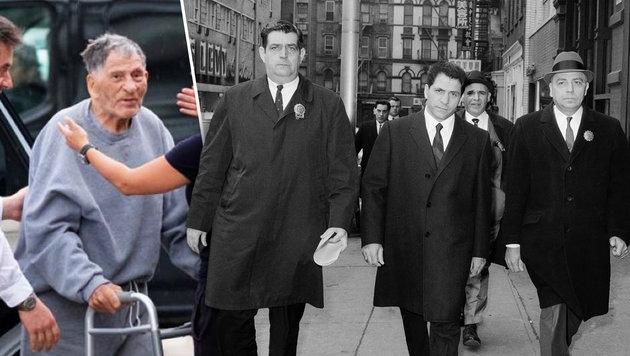 Ex-Mafiaboss mit 100 Jahren aus Haft entlassen (Bild: AP, twitter.com, krone.at-Grafik)