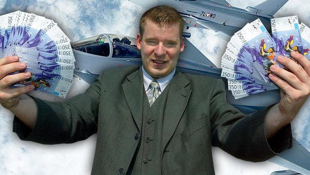 """Fuzzibalds"" Bettelmail im Eurofighter-Strafakt (Bild: obs/Eurofighter Jagdflugzeug GmbH, APA/HERBERT PFARRHOFER/RS)"