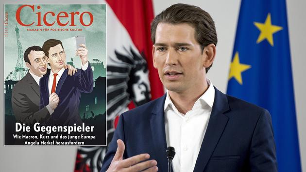 """Kurz & Co. """"schaffen Europa des 21. Jahrhunderts"""" (Bild: AFP, """"Cicero"""")"""