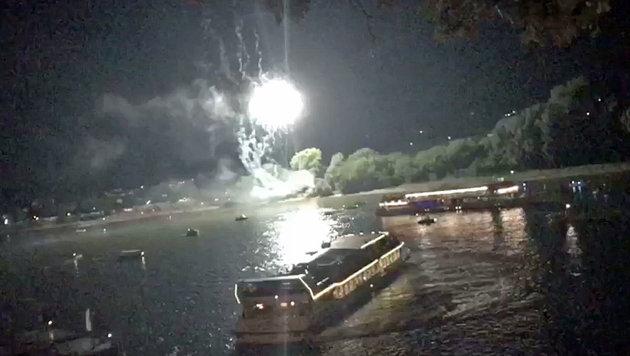 """Sonnwendfeier: Erneut Schiffsunfall auf der Donau (Bild: """"Krone"""")"""