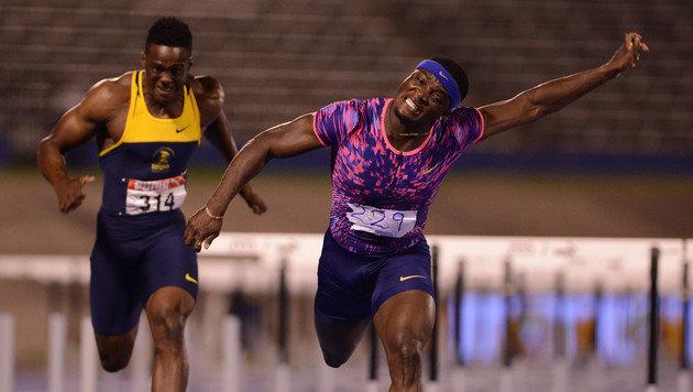 Jamaikaner McLeod verpasst Hürden-Weltrekord knapp (Bild: AFP)