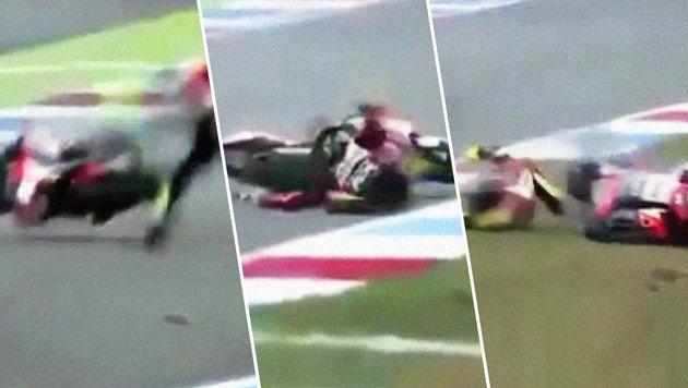 Video: Horrorsturz überschattet Moto2 in Assen (Bild: YouTube.com)