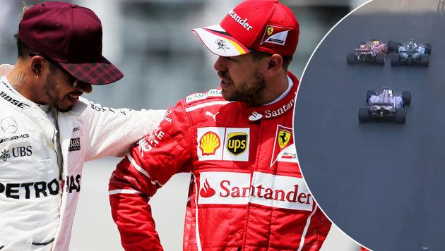 """Expertin zu Vettel-Aktion: """"Wollte Gegner reizen"""" (Bild: GEPA, SKY)"""