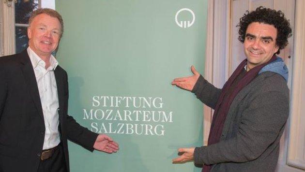 Präsident Honsig-Erlenburg  mit seiner Mozart-Total-Waffe Villazón im Banne des Wolferl ... (Bild: Neumayr/MMV)