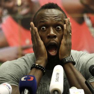 Bolt: Wilde Partynacht vor seinem letzten Rennen (Bild: Associated Press)