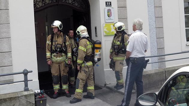 14 Verletzte nach Gasaustritt in Linzer Gebäude (Bild: Markus Schütz)