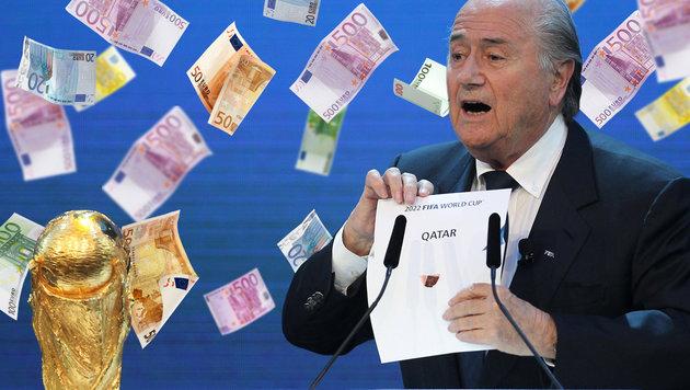 WM-Vergabe: Millionenzahlung an 10-Jährige (Bild: AFP, thinkstockphotos.de, Krone.at-Grafik)