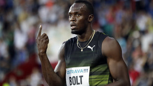 Usain Bolt gewinnt in Ostrava in 10,06 Sekunden (Bild: Associated Press)
