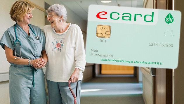 Pflegeregress abgeschafft - Foto auf E-Card kommt (Bild: APA/SVC/Foto Wilke, thinkstockphotos.de, krone.at-Grafik)