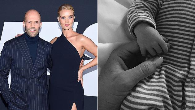 Jason Statham und Rosie Huntington-Whiteley sind zum ersten Mal Eltern geworden. (Bild: GETTY IMAGES NORTH AMERICA, instagram.com/rosiehw)