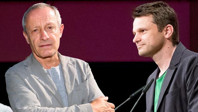Grünen-Klubchef Steinhauser (rechts) droht Pilz jetzt mit dem Rausschmiss. (Bild: APA/EXPA/SEBASTIAN PUCHER, UTA ROJSEK-WIEDERGUT)