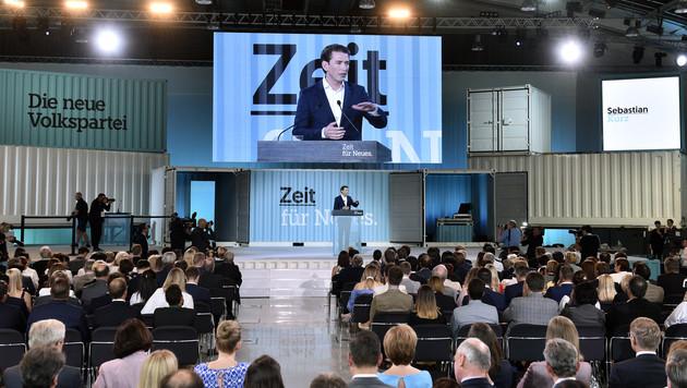 Kurz will keine Politiker auf der ÖVP-Bundesliste (Bild: APA/HANS PUNZ)