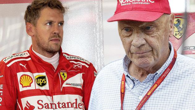 "Lauda: ""Vettel kann so nicht happy sein"" (Bild: GEPA, APA/ERWIN SCHERIAU)"