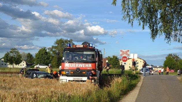 Der dramatische Zugunfall in Ried im Innkreis (Bild: unbekannt)