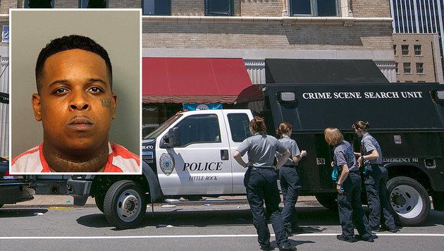 Wenige Stunden nach seinem Auftritt wurde Rapper Ricky Hampton festgenommen. (Bild: AFP/GETTY IMAGES)