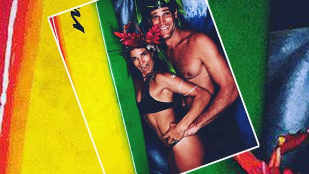 Julia Mancuso und ihr Ehemann Dylan Fish sind beim Surfen immer für einen Spaß zu haben! (Bild: facebook.com/Julia Mancuso)