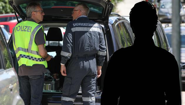 Linz: Auch Sohn der Opfer auf Todesliste? (Bild: APA/LAUMAT.AT/MATTHIAS LAUBER, krone.at-Grafik)