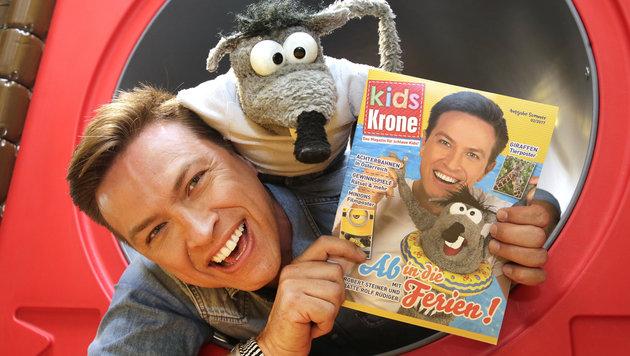 Das Kids Krone Magazin erscheint viermal jährlich! (Bild: Klemens Groh)