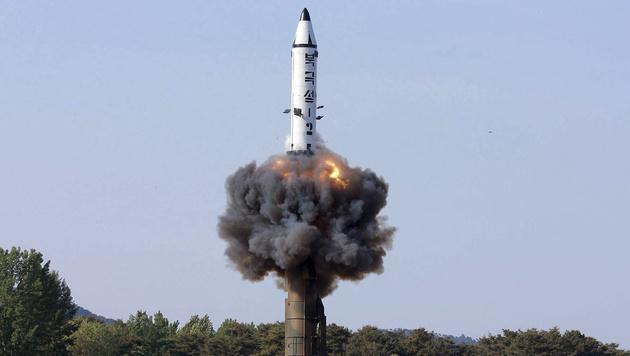 Eine nordkoreanische Rakete (Bild: AP)