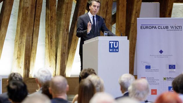 Kern bei der Präsentation seines EU-Plans (Bild: APA/GEORG HOCHMUTH)