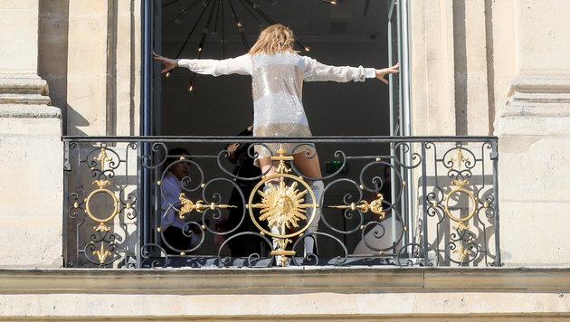"""Celine Dion bei einem Fotoshooting für die """"Vogue"""" im Rahmen der Pariser Modewoche. (Bild: www.PPS.at)"""