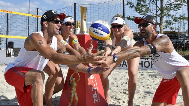 So geil wird die Beachvolleyball-WM in Wien (Bild: APA/HERBERT NEUBAUER)
