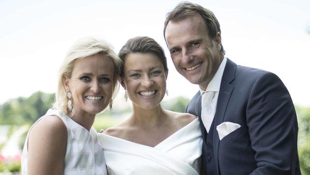 Alexandera Meissnitzer war unter den Festgästen bei der Hochzeit von Ernst und Nina Hausleitner. (Bild: Peter Baier)