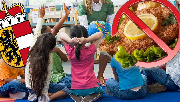 """92 Prozent der Bevölkerung halten nichts von einem """"Schnitzel-Verbot"""" aus religiösen Gründen. (Bild: thinkstockphotos.de, wikipedia.com)"""
