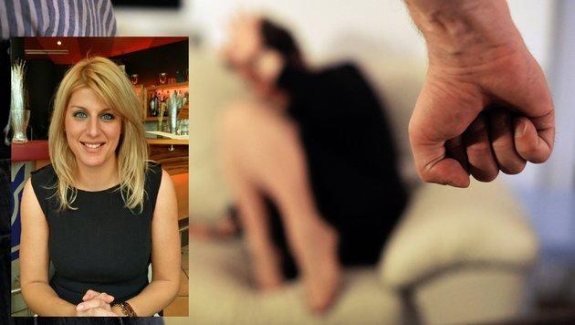 """Chr. Hengstschläger (kl. Bild) vom autonomen Frauenzentrum rät misshandelten Frauen zu Beratungen. (Bild: """"Krone"""")"""