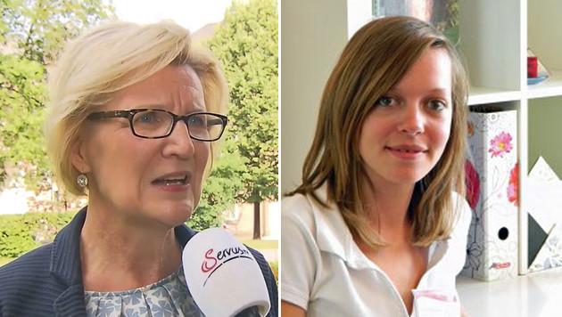 """Maria Anna Benedikt, Diätologin an der Uni-Klinik (li.) und Edith Sichtar, Ernährungsexpertin (Bild: """"Krone"""")"""